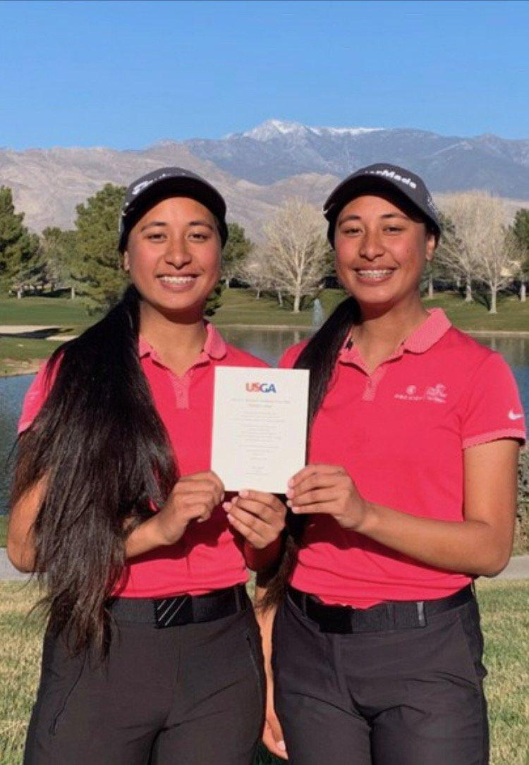 Jasmine &  Janae Leavao, move on the WOMEN's USGA 4 Ball Championship.